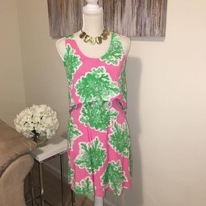 crown&ivy sleeveless dress size 6 floral pink